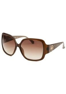 Michael By Michael Kors Women's Zuma Brown Square Sunglasses