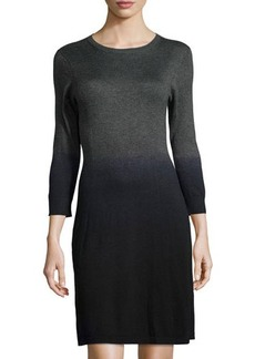 MICHAEL Michael Kors 3/4-Sleeve Dip-Dye Stretch-Knit Dress