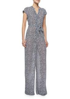 MICHAEL Michael Kors Abstract Jaguar-Print Jumpsuit  Abstract Jaguar-Print Jumpsuit