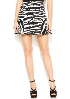 MICHAEL Michael Kors Animal-Print Flounce Skirt