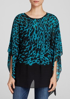 MICHAEL Michael Kors Animal Print Flutter Sleeve Top