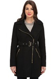 MICHAEL Michael Kors Asymmetric Hooded Belted