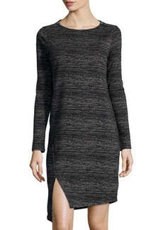MICHAEL Michael Kors Asymmetric-Vent Long-Sleeve Crewneck Dress  Asymmetric-Vent Long-Sleeve Crewneck Dress