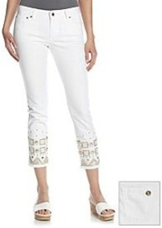 MICHAEL Michael Kors® Beaded Skinny Cropped Jeans