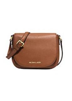MICHAEL MICHAEL KORS Bedford Leather Medium Flap Messenger Bag