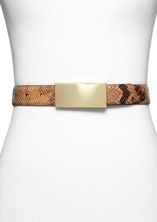 MICHAEL Michael Kors Belt - Embossed Snake Plaque Buckle