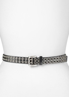 MICHAEL Michael Kors Belt - Eyelet Panel Belt with Double Prong