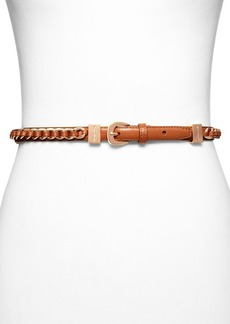 MICHAEL Michael Kors Belt - Laced Leather & Chain