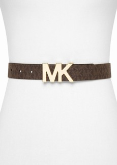 MICHAEL Michael Kors Belt - Logo PVC Panel