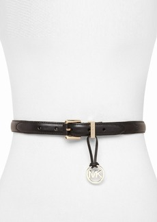 MICHAEL Michael Kors Belt - MK Charm With Stitched Tabs