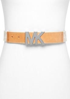 MICHAEL Michael Kors Belt - MK Logo Hardware