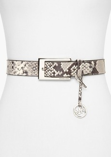 MICHAEL Michael Kors Belt - Python-Embossed Panel Logo Harness
