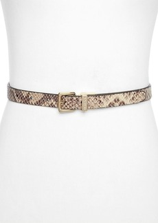 MICHAEL Michael Kors Belt - Reversible Logo/Glazed Python Embossed