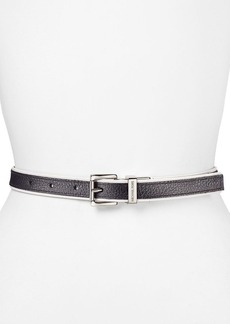 MICHAEL Michael Kors Belt - Reversible Saffiano with Contrast Piping