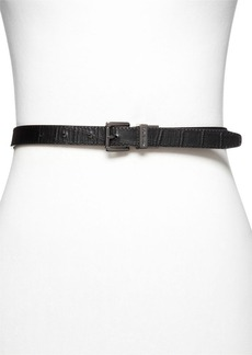MICHAEL Michael Kors Belt - Reversible Snake/Croc-Embossed