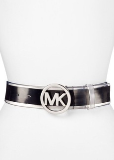 MICHAEL Michael Kors Belt - Stripe with MK Logo