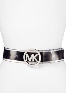 MICHAEL Michael Kors Belt - Stripe with MK Logo