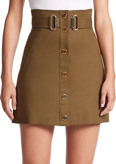 MICHAEL MICHAEL KORS Belted A-Line Skirt