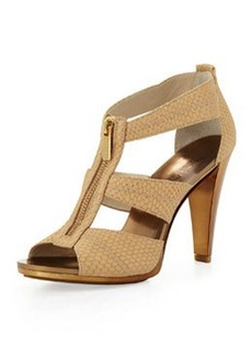 MICHAEL Michael Kors Berkley Embossed T-Strap Sandal