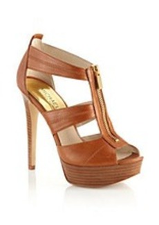"MICHAEL Michael Kors® ""Berkley"" Open-toe Heels - Luggage"
