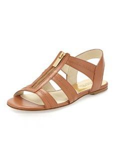 MICHAEL Michael Kors Berkley T-Strap Flat Sandal, Luggage