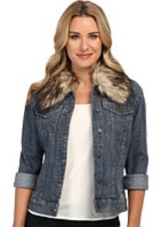 MICHAEL Michael Kors BF Denim Jacket w/ Faux FU