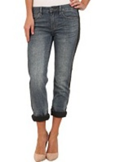 MICHAEL Michael Kors BF Jeans w/ Side Panel in Medium Vintage Wash