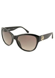 MICHAEL Michael Kors Black cat-eye oversize plastic sunglasses