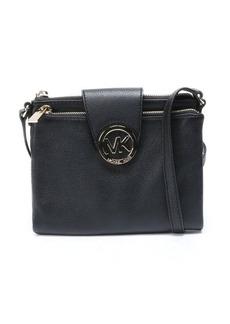 MICHAEL Michael Kors black leather 'Fulton' shoulder bag