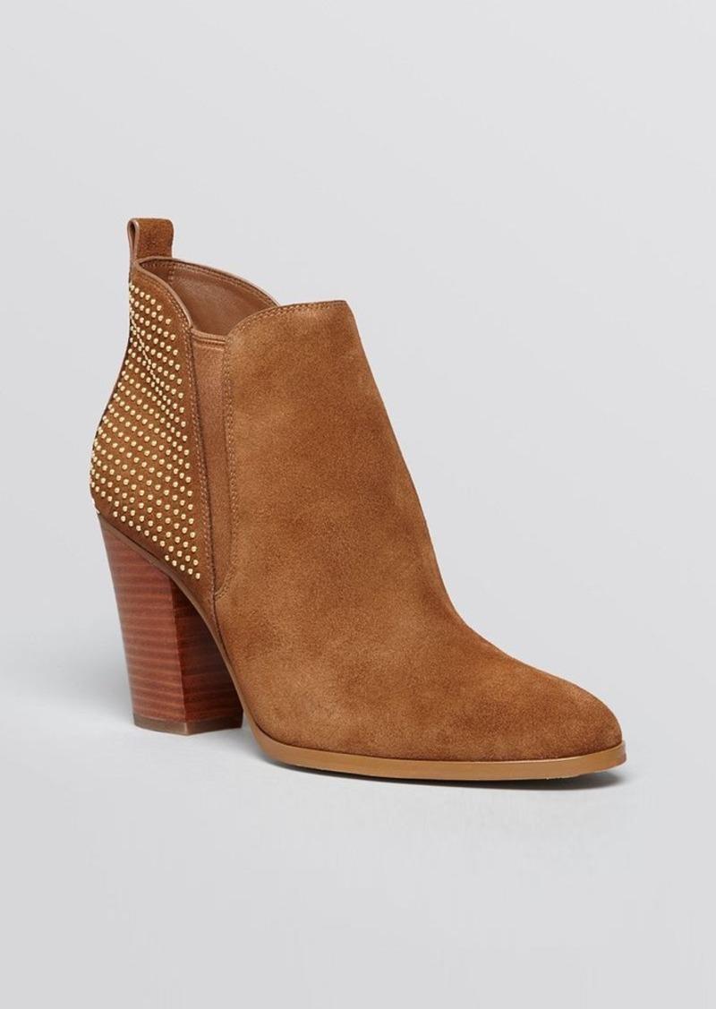 michael michael kors michael michael kors booties krista studded high heel shoes shop it to me. Black Bedroom Furniture Sets. Home Design Ideas