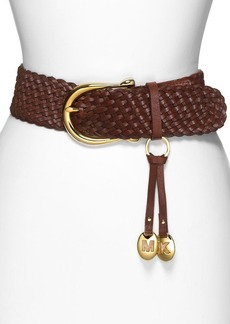 MICHAEL Michael Kors Braided Leather Belt