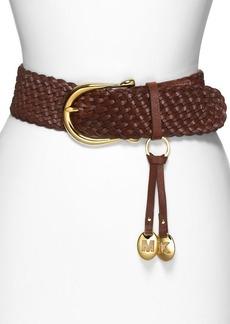 MICHAEL Michael Kors Braided Leather Belt