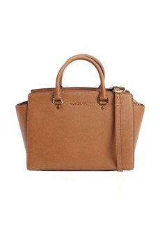 MICHAEL Michael Kors brown leather large 'Selma' top handle convertible tote