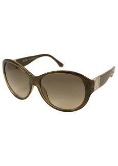 MICHAEL Michael Kors Brown oval plastic Maeve sunglasses