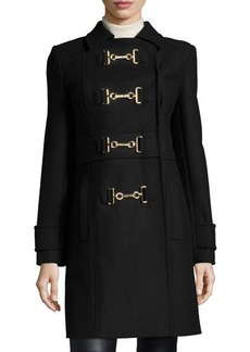 MICHAEL Michael Kors Buckle-Front Melton Wool Coat  Buckle-Front Melton Wool Coat