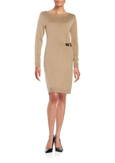 MICHAEL MICHAEL KORS Buckled Sweater Dress