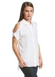 MICHAEL Michael Kors® Button Front Cold Shoulder Top