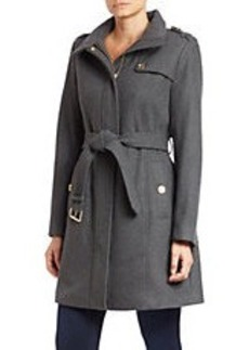 MICHAEL MICHAEL KORS Buttoned-Collar Belted Coat