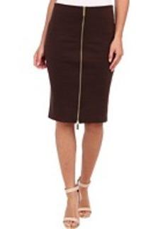 MICHAEL Michael Kors Calf Zip Seamed Skirt