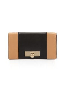 MICHAEL Michael Kors Callie Two-Tone Clutch Bag, Suntan/Black