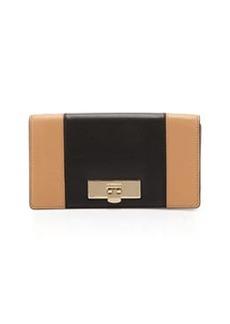 MICHAEL Michael Kors Callie Two-Tone Clutch Bag, Suntan/Black
