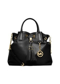 MICHAEL Michael Kors Camden Large Drawstring Satchel Bag, Black