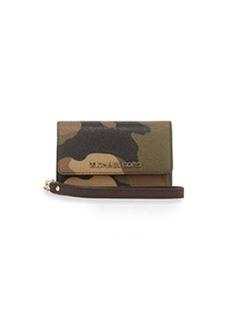 MICHAEL Michael Kors Camo-Print Saffiano Phone Wallet