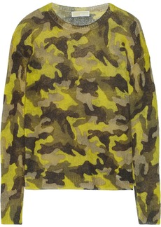 MICHAEL Michael Kors Camouflage-print crochet-knit sweater