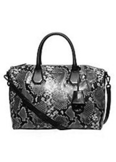 MICHAEL MICHAEL KORS Campbell Large Embossed Leather Satchel