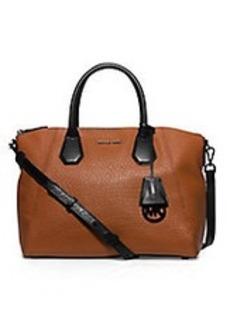 MICHAEL MICHAEL KORS Campbell Large Leather Satchel