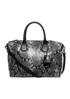 MICHAEL Michael Kors Campbell Large Python-Embossed Satchel Bag