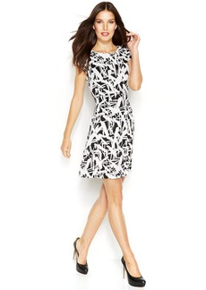 MICHAEL Michael Kors Cap-Sleeve Graphic-Print Dress
