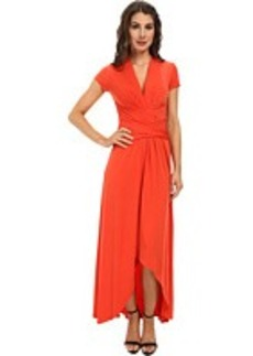 MICHAEL Michael Kors Capsleeve Maxi Wrap Dress