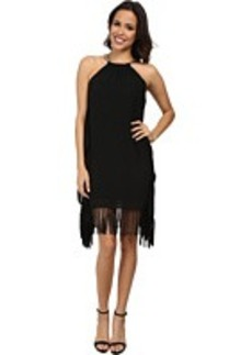 MICHAEL Michael Kors Chain Halter Fringe Dress